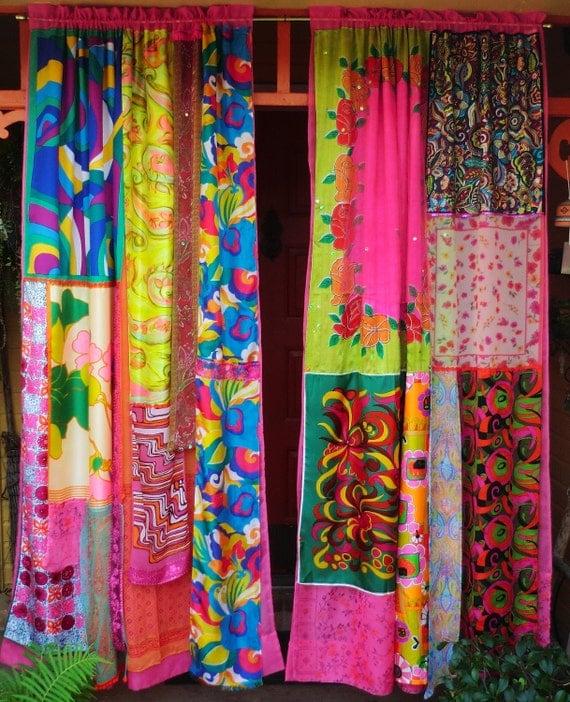 MOD MOD World - Handmade Gypsy CURTAINS Hippie Global Vintage Style
