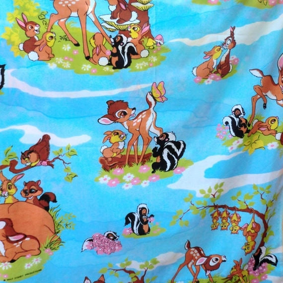 VINTAGE Bambi Curtain or Cotton Fabric