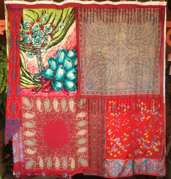 MARRAKESH MARKET - Handmade Gypsy Shower Curtain - Bohemian Ethnic Global Hippie Style