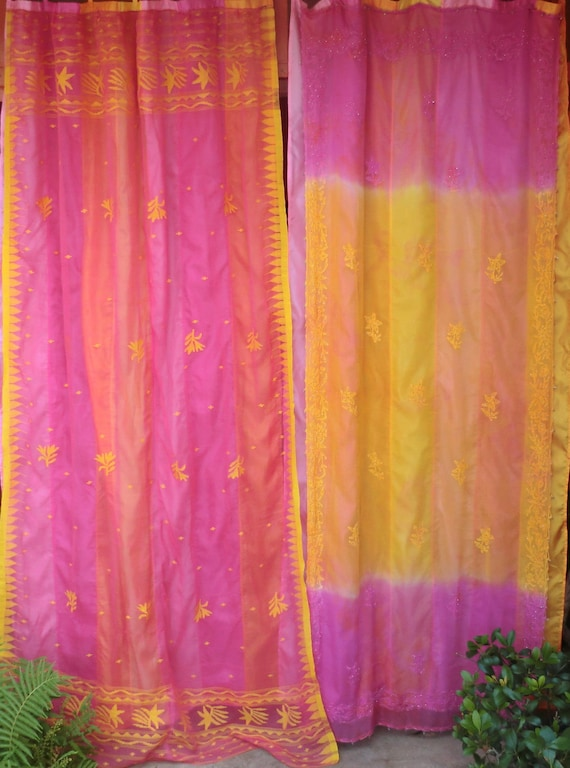 SONG OF INDIA - Gypsy Curtains with Vintage Saris
