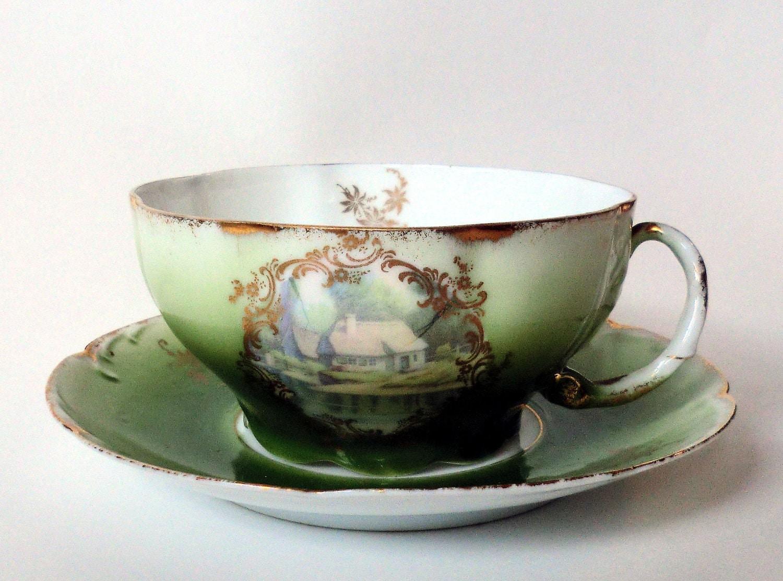 antique philip rosenthal co cup and saucer. Black Bedroom Furniture Sets. Home Design Ideas
