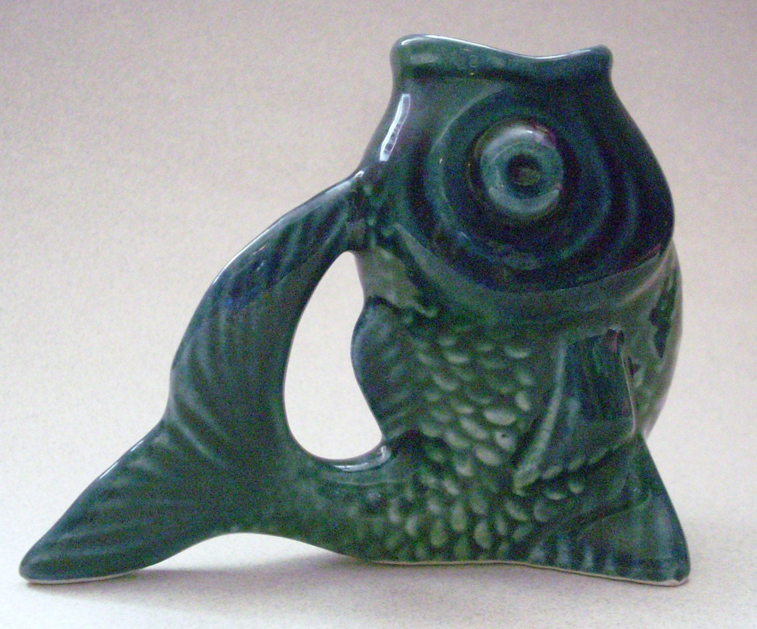 Vintage Teeny Made In Portugal Ceramic Fish Planter Vase