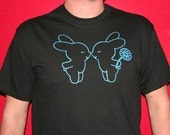 SALE Black Bunny Eskimo Kiss T-Shirt (Adult Medium)