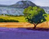 Lavender Provence - Original Painting Lavender Fields France French Countryside 9x6