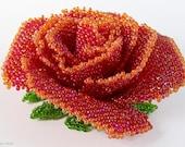 Handmade Brooch Red rose Item S15268