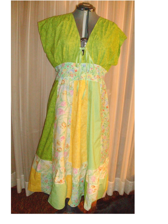 Lime and Yellow Dress for Melinda's Mom
