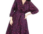 50s New Look Plus Size Vintage Dress  Bust 50