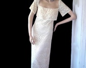 SALE 8\/15 Anthony Muto Cream Lace Long Gown