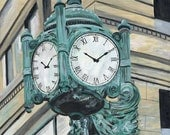 Marshall Fields Clock Chicago print 16 x 20 inches
