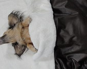 Easy Rider - A Leather Look UltraSuede with Minky Fur Lining  Snuggle Sack - Embroidered Personalization Included
