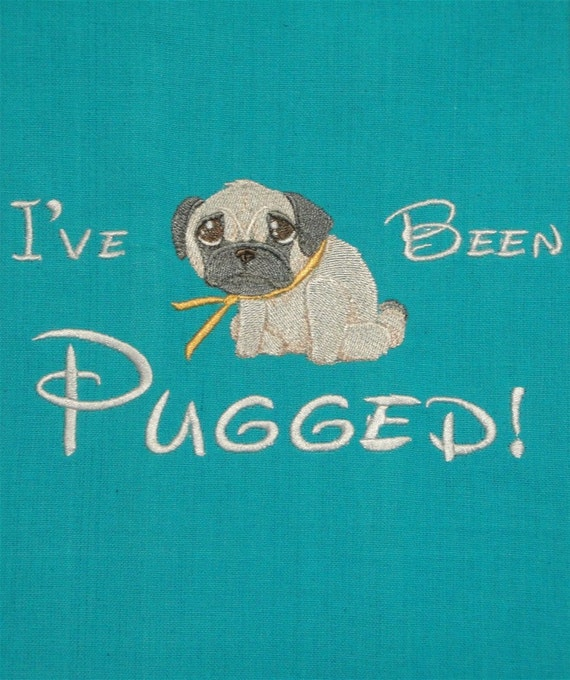 I've been pugged - Tea Towel for Pug Lovers - Dogs - Puppies