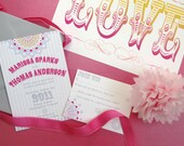 The Perfect Vintage Carnival Wedding Invitation and Postcard RSVP