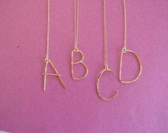 custom wire letter necklace