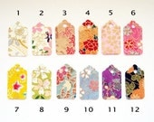 Choose Your Own 10 Mini Washi Tag Patterns - Total of 50 Tags