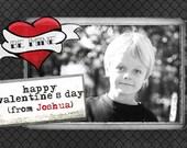 Be Mine Valentine Photo Card or PSD Template - Valentine's Day