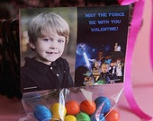 Star Wars Valentine's Day Photo Treat Bag Toppers Card - You Print