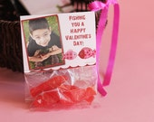 Valentine's Day Photo Treat Bag Topper Card