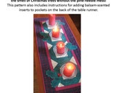 """Christmas Table Runner Pattern - """"Balsam and Holly"""""""