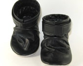 KaBoogie Wholesale Black Reclaimed Leather Ankle Boots Baby Shoes