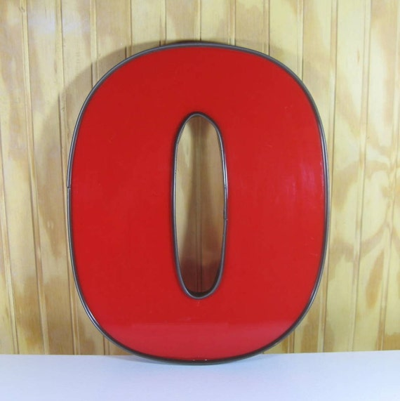 "Large Vintage Sign Plexiglass Wall Letter ""o"""