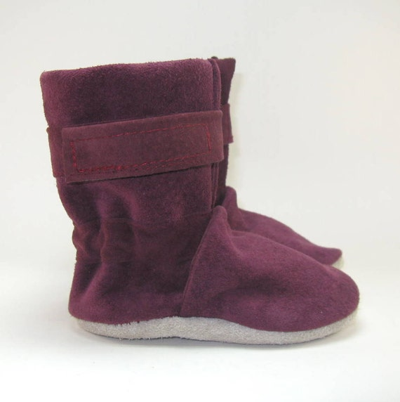 Soft Sole Winter Baby Boots Shoes in Suede Eco Friendly 6 to 12 Month