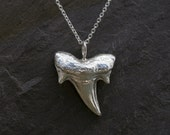 Shark Tooth Pendant, Sterling Silver Pendant Necklace, Maui Hawaiian Jewelry