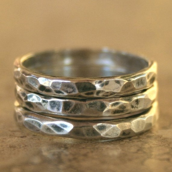 Trio Silver Stacking Rings