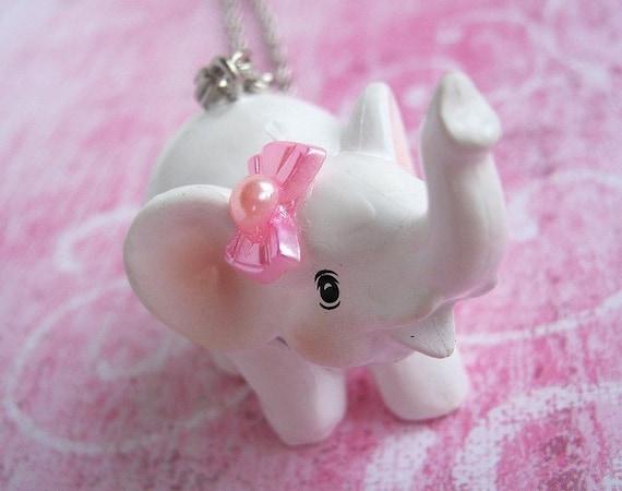 Sweet baby elephant necklace