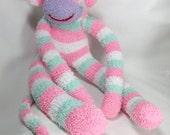 Sock Monkey plush Animal Doll Baby children