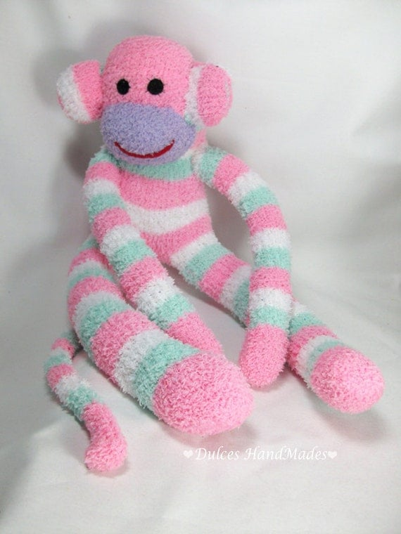 Sock Monkey plush Animal Doll Baby children