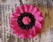 Hot Pink Hair Flower
