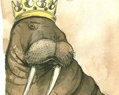 Goo goo goo joob....I am The Walrus King (an original hand painted king)