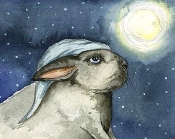 Good Night Rabbit     -print