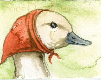 ACEO signed PRINT -  Mama Goose