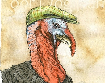 Turkey in a hat (an original hand painted bird)