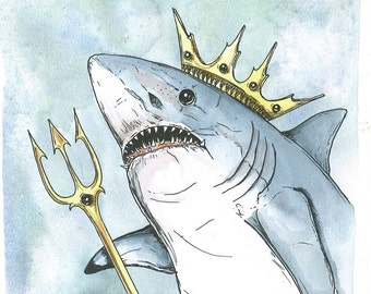 Shark King (an original hand painted king)