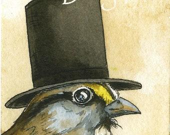 Honest Abe Sparrow - 8 x 10 print