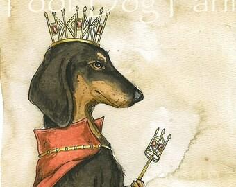 Dachshund Queen (an original hand painted queen)