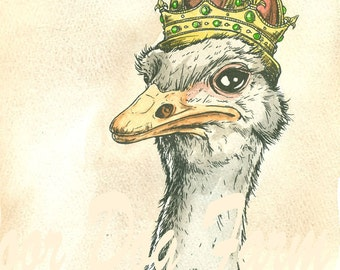 Ostrich King (an original hand painted queen)