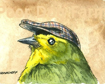 ACEO signed PRINT - Wilson's Warbler