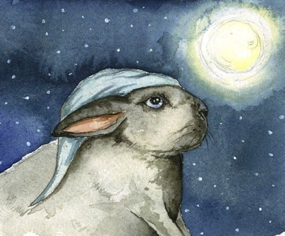 Good Night Rabbit     -print