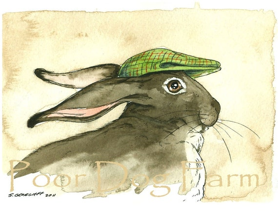 March Hare in a Hat -  8 x 10 print