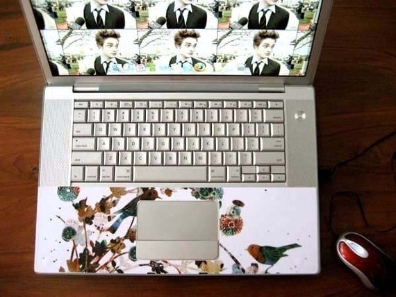 Laptop Skin Wrist Area Skin Decal Sticker Make to Order and Middle Touch Pad Hole and Other Holes are Cut For You