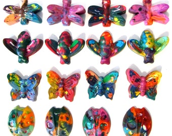 Recycled Rainbow Crayons - Jumbo Bugs Rainbow Crayons (Set of 4 Recycled Crayons)