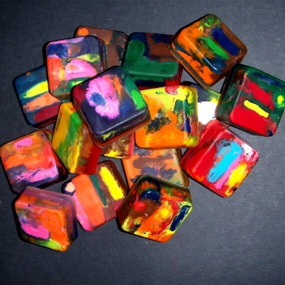 Original Rainbow Crayons- Mini Squares (Set of 12)