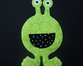 Fabric Applique TEMPLATE ONLY Big Mouth Alien