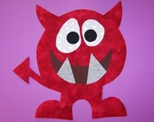 Fabric Applique TEMPLATE ONLY Delvin The Monster
