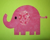 Fabric Applique TEMPLATE ONLY Elephant