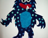 Fabric Applique TEMPLATE ONLY Hairy The Monster