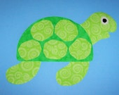 Fabric Applique TEMPLATE Pattern Only Large SEA TURTLE.....New